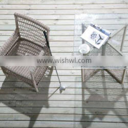 Outdoor Synthetic Rattan Leisure Chair and Coffee Table SV-8042