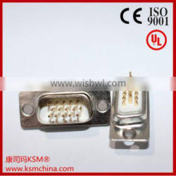 D-sub hdb connector for wire male 15 pin