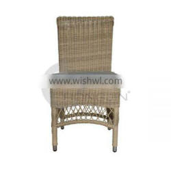 Waterproof Rattan Armless Garden Chairs with Cushions