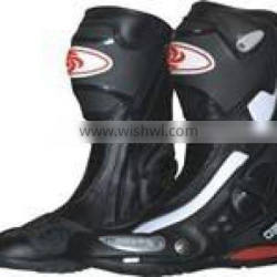 Waterproof leather Motocross shoes, motorbike racing shoes for men`s