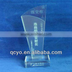 Pop and top grate clear acrylic award/medal