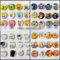 Hot sale Promotional colorful cartoon round metal pin button Badge