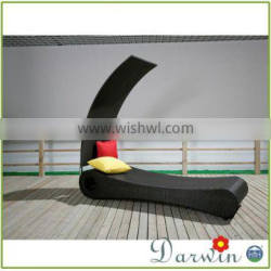 Outdoor Resin Wicker Round Rattan Cane Bed SV-4082