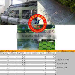 high quality 5% Galvalume 80 x 100 (2.5) gabion box for dam