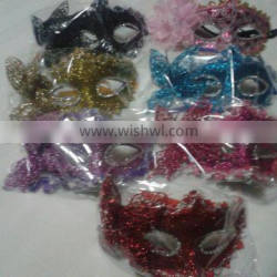 party mask with butterfly decoration accessory