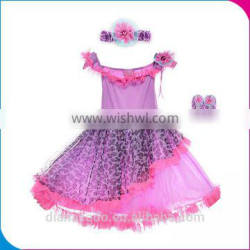 New Arrival Free Sample Lilac Baby Cheap Flower Girl Dress Patterns Free, Lovely Lace Tulle Flower Girl Dress For Wedding