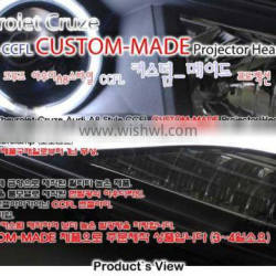 [AUTO LAMP] Chevrolet Cruze 2014 - 2014 Ver.A8 Style CCFL Angel Eyes Projector Headlights Set(no.3278)
