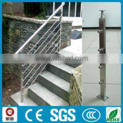 stainless steel square pipe railing for stair/balcony