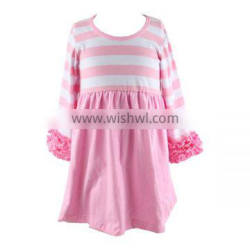 Infant clothes summer autumn dress wholesale baby remake frocks icing toddler dress ruffle sleeve dresses girls