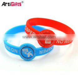 Wholesale custom cheap promotion silicone wrist band