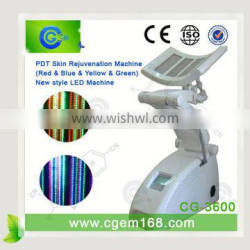Improvefinelines CG-3600 Floor Standing Type LED Light Therapy Machine PDT Equipment Red+Blue+Yellow+Green Light 590 Nm Yellow