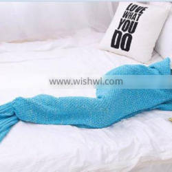 kids baby girls fishtail seamaid mermaid retail hand knitted blanket