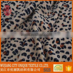 fashional Leopard fabric with pvc dots