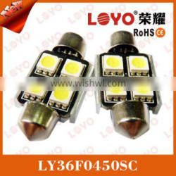 NEW 4smd 5050 car accessories canbus festoon led bulb light