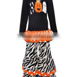 top selling halloween ghost applique fall girls festival clothes