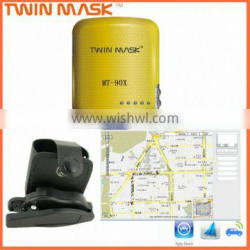 Small GPS tracker with SOS panic button