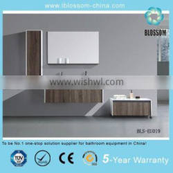 High quality european style MDF bathroom vanity with side cabinet