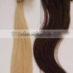 2012 hot sale pre-bonded human hair extentions