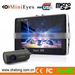 Newest High quality 4.3inch Android system 4X ZOOM GPS G-sensor wifi nightvision portable car camcorder high definition