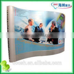 Curved Pop Up Display Exhibition Stands Pop Up Banner