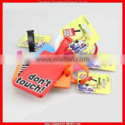 Top quality soft PVC luggage tag for wholesale (MYD-LT6666)
