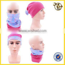 multifunctional customized seamless tube bandana with polar fleece
