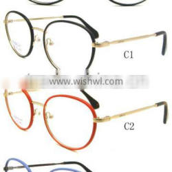 Chelsea Morgan Eyewear, new model optical frame with leather and textile