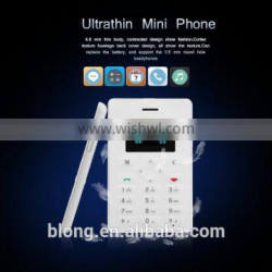1.0 inch OLED Screen Card Size Mobile Phone with slim body