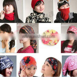 Yiwu Wholesale Low Price Fashion Multifunctional Magic Changeable Head Kerchief Bandana