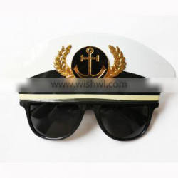3170401-31 Sheriff hat glasses mysterious mask sunglasses party glasses
