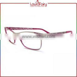 Laura Fairy Hollow Out Design Fashion Optical Frames Brand Name Fancy Eyeglass for Women Men Quality Choice