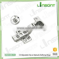 2016 hot sale 3-D adjustable hydraulic clip on wooden door hinge cabinet furniture hinges