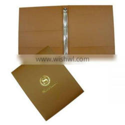 A4 Size Leather File Folder With Ring Binder
