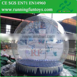 10ft Inflatable Snow Globe, Indoor Photo Snow Globe, Market Snow Igloo For Advertising