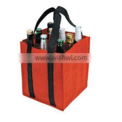 long handle PP non WOVEN wine tote bag