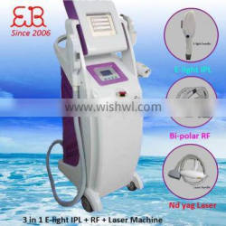 Remove Diseased Telangiectasis Professional Factory E-light 1-50J/cm2 Ipl Rf Nd Yag Laser Multifunction Machine