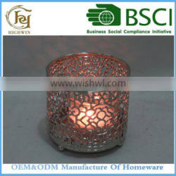 Cemetery Metal Candle Holder For Home Decoration Pieces