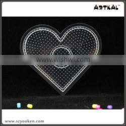 heart-shaped pegboards artkal fuse beads 2.6mm mini popular pattern fun toys for kid
