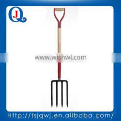 Farming and gardening digging fork tools with wooden handle