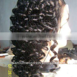 100% Indian remy human hair glueless full lace wigs