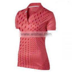Made in China digital sublimation 100 polyester golf shirts