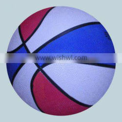official rubber basketball mixed color size 7