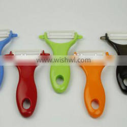 Ceramic Peeler with various optional colors, vegetable and fruit peelers with ABS or PP hanlde for kitchen use