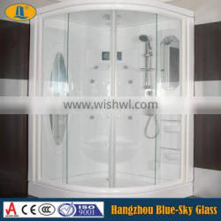 High quality tempered glass shower partition for wholesale
