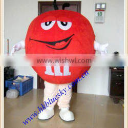 Red M&M'S mascot costume for adults