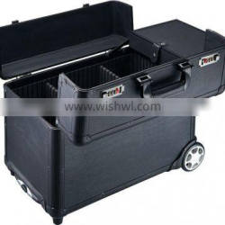 Aluminum makeup case with wheels and handle (D9020K)