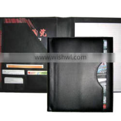 PU MATERIAL WRITING FOLDER WITH 20 PAGES NOTEPAD