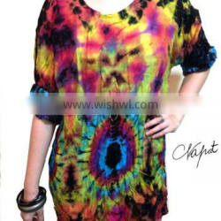 Bohemian clothing,Hippy ,Hip Hop , Reggae style Tiedye Colorful T-shirt