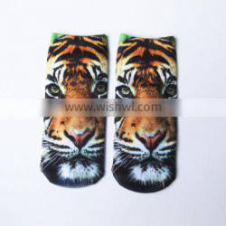 lady ankle sublimation socks with photo screen printing