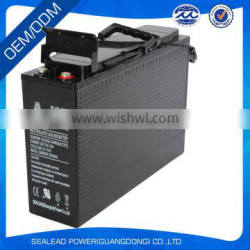 Made in guangzhou12v 100AH Front Terminal battery for solar panel